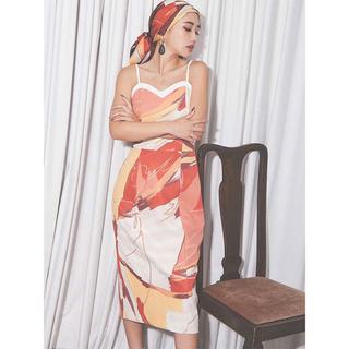 エイミーイストワール(eimy istoire)のはな♡ 様専用 スカーフ付きマルチペイントワンピース(ひざ丈ワンピース)
