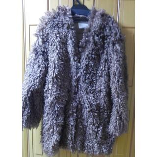 ココディール(COCO DEAL)の濃い茶色のプードルファーコート(毛皮/ファーコート)