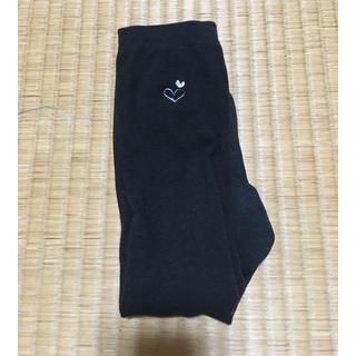 しまむら - 23~25cm 1足組 黒 (ハート)ハイソックス スクールソックス 靴下