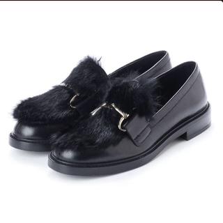 スコットクラブ(SCOT CLUB)のヌエール■nouer■ELVIOZANON ■ラビットファー×レザーローファー (ローファー/革靴)
