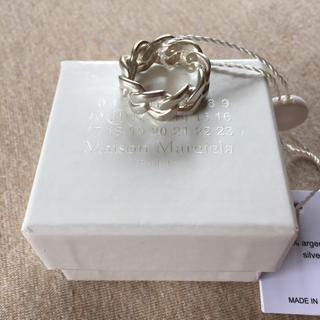 マルタンマルジェラ(Maison Martin Margiela)のM新品 メゾンマルジェラ シルバー チェーンリング 指輪 メンズ 18SS(リング(指輪))