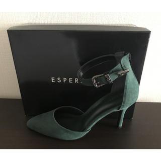 エスペランサ(ESPERANZA)の新品 ESPERANZA グリーン 緑 パンプス エスペランサ 24㎝ サンダル(ハイヒール/パンプス)