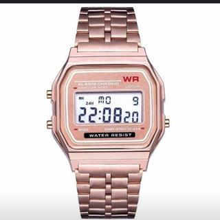 ピンクゴールド チープCASIO風(腕時計(デジタル))