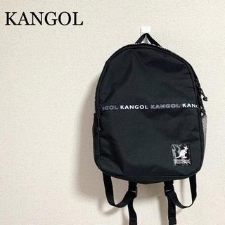 カンゴール(KANGOL)の★未使用★KANGOL リュック 黒 ロゴマーク カンゴール (リュック/バックパック)