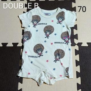 DOUBLE.B - DOUBLE B 半袖ロンパース  70