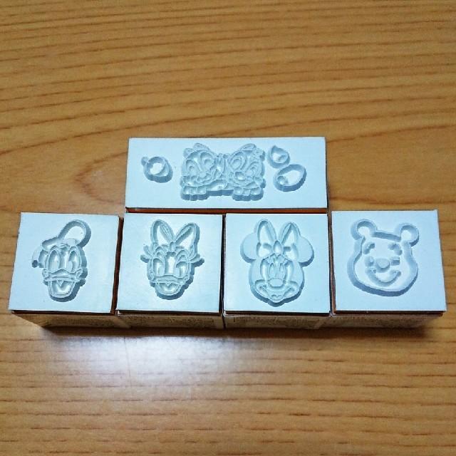 Disney(ディズニー)の値下げ!!はんこ ディズニー  5個セット  新品 送料込み ハンドメイドの文具/ステーショナリー(はんこ)の商品写真