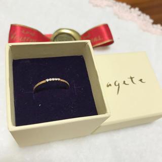アガット(agete)のagete ゴールドリング(リング(指輪))