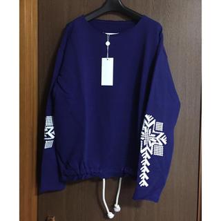 マルタンマルジェラ(Maison Martin Margiela)の46新品 メゾンマルジェラ 刺繍入り オーバーサイズ スウェット メンズ(スウェット)