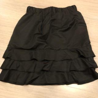 オペーク(OPAQUE)の美品☆ 黒の膝上スカート(ミニスカート)