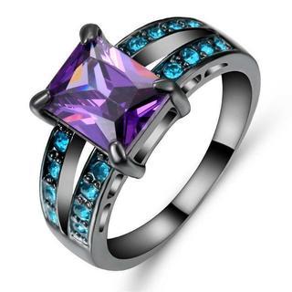 MCR03女性愛の心多色リング結婚指輪日本サイズ16号(リング(指輪))