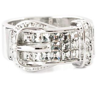 スワロフスキー(SWAROVSKI)のスワロフスキー クリスタル ベルトリング 指輪 K18GP ホワイトゴールド(リング(指輪))
