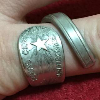 アンティーク リング スプーンリング 22号 調節可 60s テキサス州 589(リング(指輪))