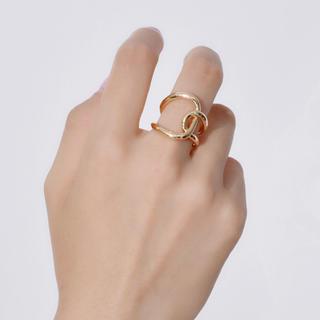 142「ゴールドクロスリング」指輪(リング(指輪))