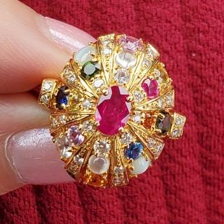 200万円 K18 ナワラタナ セレブ宝石 ピジョンブラッド ルビー リング(リング(指輪))