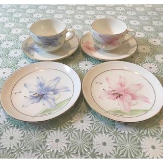 ハナエモリ(HANAE MORI)のハナエモリ ペア カップ&ソーサー ケーキ皿(食器)