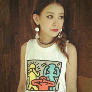 スライ(SLY)の大人気 ♡Keith Haringey(Tシャツ(半袖/袖なし))