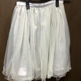 ティティアンドコー(titty&co)のチュールスカート♡グレー(ひざ丈スカート)