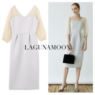 LagunaMoon - LAGUNAMOON LADYシアードットスリーブタイトドレス