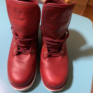 アディダス(adidas)のadidas originals ブーツ レッド(ブーツ)