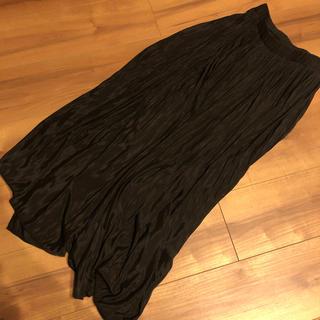 ホリデイ(holiday)のZOZO購入✭サテン生地プリーツマキシスカート(ロングスカート)