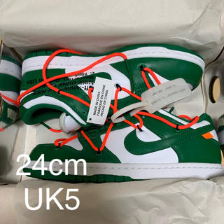 ナイキ(NIKE)のNIKE off-white dunk low LTHR 24cm(スニーカー)