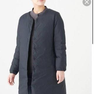ムジルシリョウヒン(MUJI (無印良品))の無印良品 軽量オーストラリアダウンポケッタブルノーカラーコート 婦人 L (ダウンジャケット)