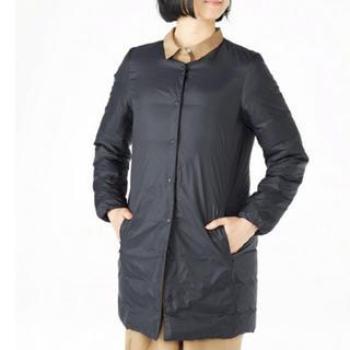 ムジルシリョウヒン(MUJI (無印良品))の無印良品 軽量オーストラリアダウンポケッタブルコート 婦人 S 黒 (ダウンジャケット)