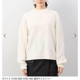 リミットレスラグジュアリー(LIMITLESS LUXURY)の白ニット limitless luxury定価9612円(ニット/セーター)