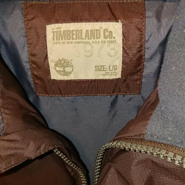 Timberland(ティンバーランド)のティンバーランド Timberland ダウンジャケット ダークブラウンサイズL メンズのジャケット/アウター(ダウンジャケット)の商品写真
