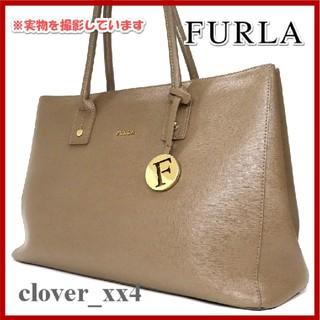フルラ(Furla)のフルラ トートバッグ 美品 ブラウン FURLA バッグ A4 チャーム(トートバッグ)