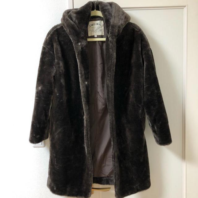COCO DEAL(ココディール)の新品ココディール ファーコート レディースのジャケット/アウター(毛皮/ファーコート)の商品写真