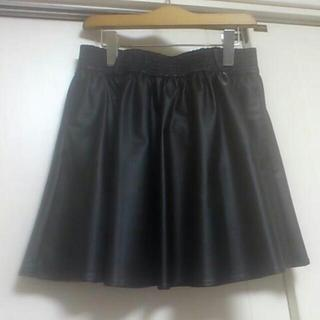 ローリーズファーム(LOWRYS FARM)のブラックレザースカート(*^^*)♪(ミニスカート)