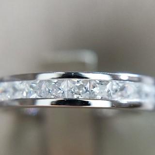 プリンセスカットフルエタニティリング 最高級sonaダイヤモンドリング(リング(指輪))