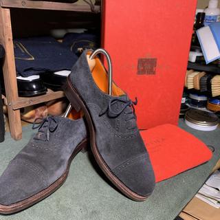クロケットアンドジョーンズ(Crockett&Jones)のCARMINA スウェード  5(ローファー/革靴)