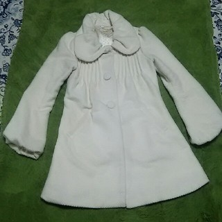 アンティローザ(Auntie Rosa)のauntie rosa 白 Aライン コート(ロングコート)