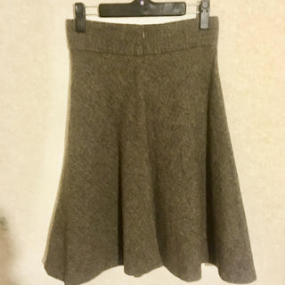 ザラ(ZARA)のZARA ヘリンボーン バイアス 膝丈フレアスカート ザラ 送料込 未使用(ひざ丈スカート)