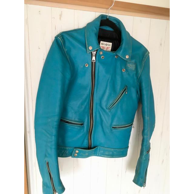 Lewis Leathers(ルイスレザー)のルイスレザー   サイクロン ターコイズ 36 メンズのジャケット/アウター(レザージャケット)の商品写真