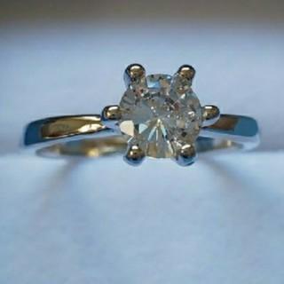 スワロフスキー(SWAROVSKI)のf041❇️ロエアス❇️1㌌ ダイヤモンドキュービックジルコニア 6本爪 リング(リング(指輪))