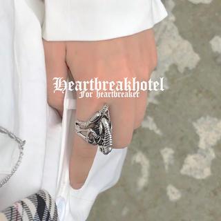 👾 Vintage Silver Alien Metal Ring(リング(指輪))