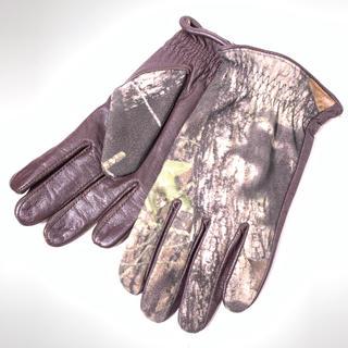 コロンビア(Columbia)の【columbia】コロンビア (L) 迷彩 牛革 レザー手袋(登山用品)