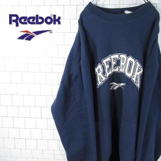 リーボック(Reebok)の【デカロゴ】激レア リーボック ベクター刺繍ロゴ ゆるだぼ スウェット(スウェット)