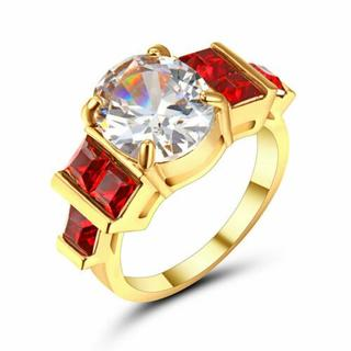 MCR05女性愛の心多色リング結婚指輪日本サイズ17号(リング(指輪))