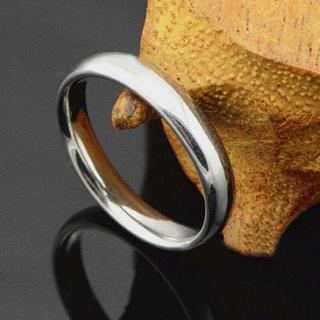 USサイズ13号女性男性4 mmグレーステンレスリングA215G13(リング(指輪))