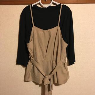 インナーカットソー付き ビスチェ(カットソー(長袖/七分))