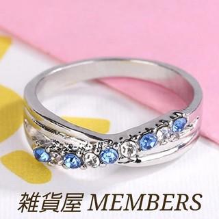 送料無料17号クロムシルバーブルートパーズスーパーCZダイヤジュエリーリング指輪(リング(指輪))