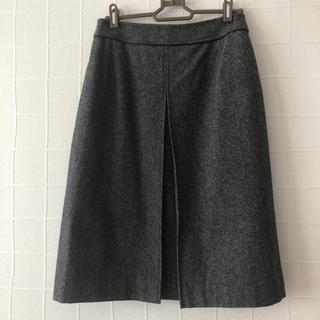 グレー ツィードタイトスカート L(ひざ丈スカート)