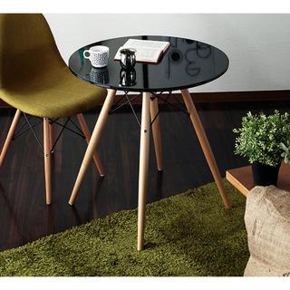 イームズ(EAMES)の新品 ウッドレッグラウンド テーブル(コーヒーテーブル/サイドテーブル)