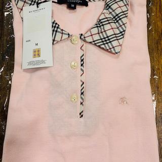BURBERRY - BURBERRY LONDON ポロシャツ Mサイズ パステルピンク