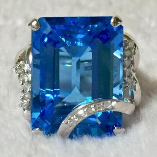 ダイヤモンド×ブルートパーズ リング 指輪(リング(指輪))