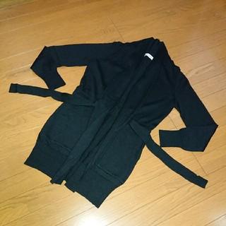 エムプルミエ(M-premier)のエムプルミエブラック カーディガン 秋冬 黒 36サイズ(カーディガン)